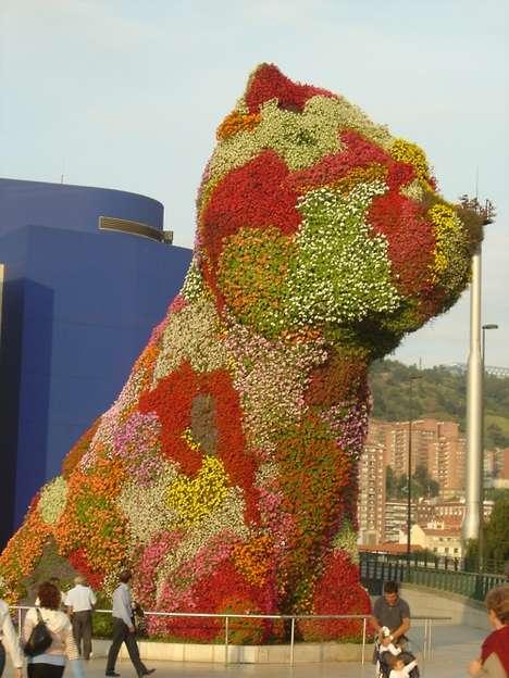 Floral Canine Sculptures