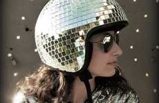 70s-Inspired Head Protectors - The Disco Ball Helmet by Natalie Walsh is Fit for Studio 54