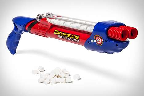 The Double Barrel Marshmallow Shooter Packs Some Serious Sweet