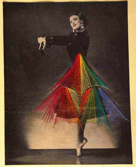 Embroidered Vintage Dancer Photographs