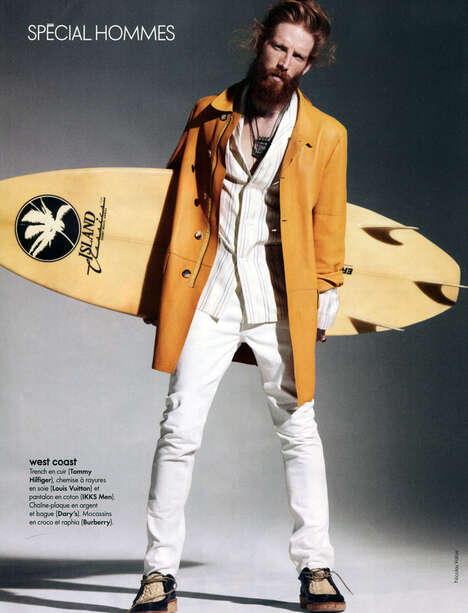 Gentlemanly Ginger Surfer Shoots