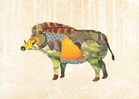 Patchwork Animal Illustrations