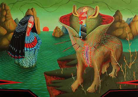 Psychedelic Animal Paintings
