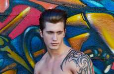 Buff Tattooed Pictorials - The Daniel Osborne Male Model Scene Exclusive is Tough and Toned