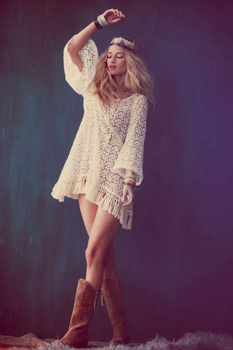 Ethereal 60s Captures  - The Free People Festival 2012 Photoshoot Features Chic Looks