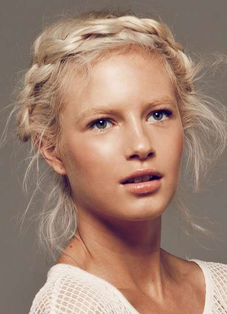 Sun-Kissed Blonde Beautorials - The Crystal Glynn Modelco Campaign is Fresh-Faced