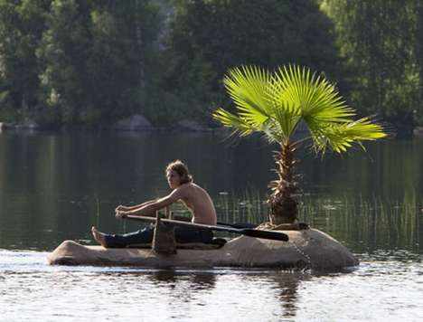 The Antti Laitenen 'Deserted Island Raft' is the Single Man's Boat