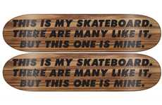 Poetic Skateboard Decks - The RAW Spring Board Graphics are Simple and Spunky