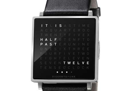 Word-Reading Wrist Watches