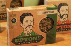 Fascinating Facial Hair Branding - Delicious Design League Crafts a Hairy Label for Upton's Naturals