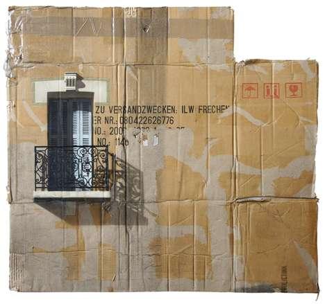 Cardboard Estate Paintings