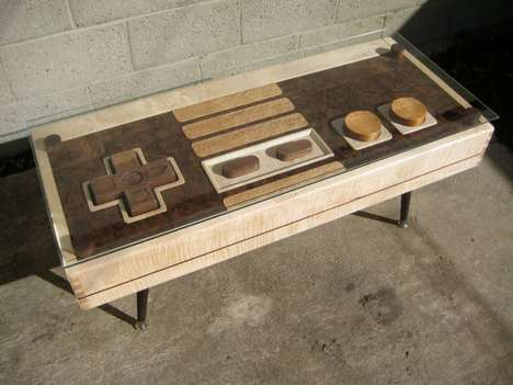 Functional Gamer Furniture - The Nintendo Controller Coffee Table Boasts Fully Functional Controls