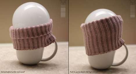 Sweater-Wearing Mug Lamps