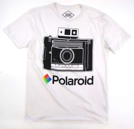 Vintage Photography Tees - The Polaroid x Altru Collaboration is Chill and Chic