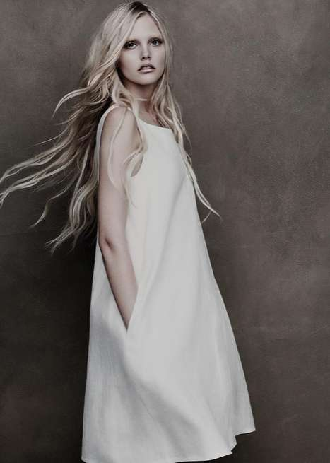 Ghostly Elegant Editorials - The Lida Baday Campaign is Faded and Gorgeous