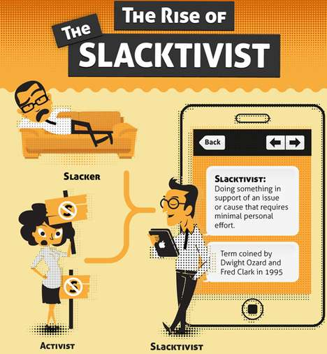 Lazy Activism Statistics - The Rise of the Slacktivist Infographic is Full of Interesting Info