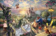 Grandiose Disney Depictions - Thomas Kinkade Illustrates Majestic Pictures from Childhood Favorites
