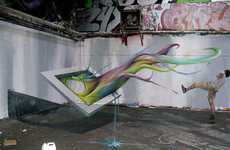 Wall-Bending Graffiti - The TSF Crew Will Make Your Eyes Think in a Different Direction