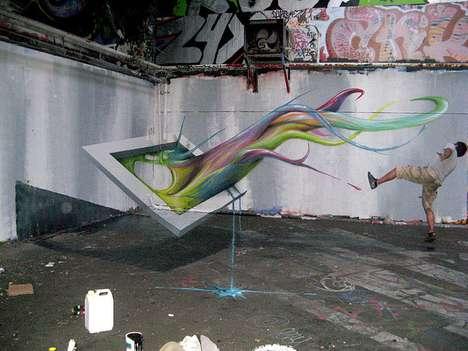 Wall-Bending Graffiti