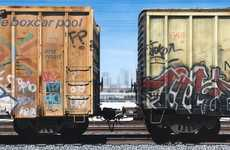 Realist Box-Car Art - From Dust to Graffiti Adam Normandins Paints it All