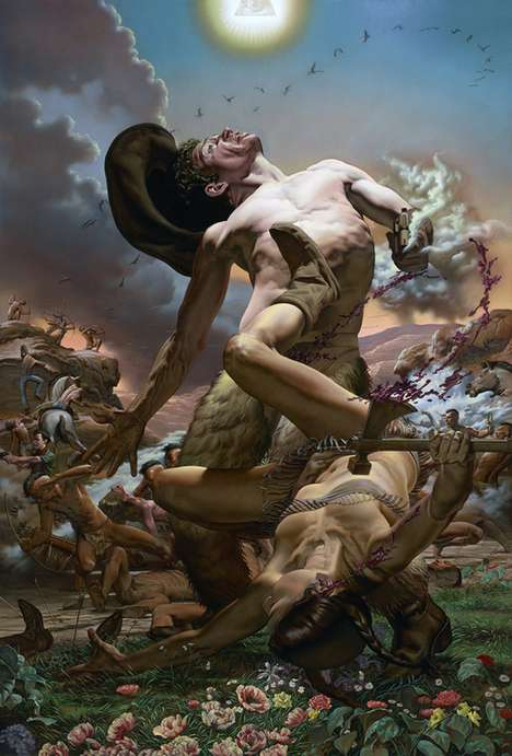 Extreme Violence Oil Paintings - The Nicola Verlato Series 'How the West Was Won' is Dynamic