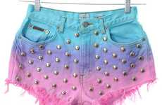 Punk Pastel Shorts - The Kaleidoscope Eyes Ombre Shorts are Incredibly Chic