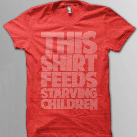Each 'Feed Just One' Tee Sold Gives a Child Food for 30 Days