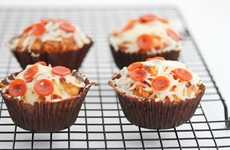 Savory Pepperoni-Topped Cakes - These Pizza Cupcakes Are a Fun Alternative to a Boring Slice