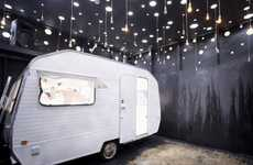 Compact Caravan Nightclubs - The Black Box Revelation by Re-Make/Re-Model Offers a Unique Experience