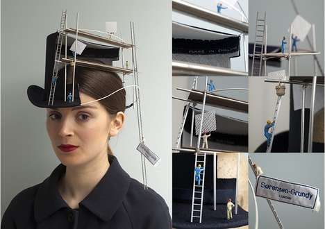 Miniature Hat Makers - 'Construction Overhead' Uses Traditional Millinery Materials