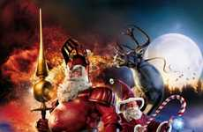 Cinematic Christmas Ads - The Sky Cinema HD Campaign Depicts Epic Santas
