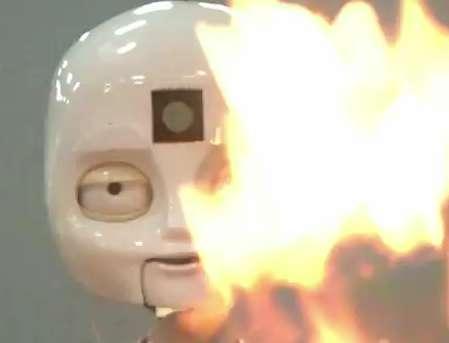 Flame-Extinguishing Robots