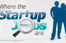 Career-Seeking Infographics - 'Where the Start Up Jobs Are' Statistics Gives Advice on Job Hunting