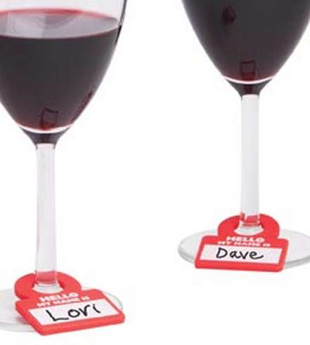 Alcohol Name Tags - 'Drink Notes' Make Sure Germs Aren't Spread at Wine Tastings