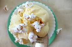 Cool Creamy Cinema Snacks - Buttered Popcorn Ice Cream Delivers the Flavor of the Theatre