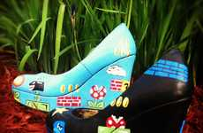 Geeky Gaming Pumps - The 'Super Mario Wedge Heels' Will Stomp Out Goombas