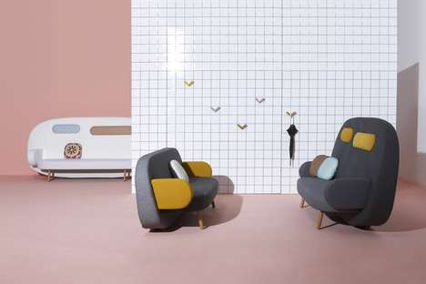 Animated Rounded Couches