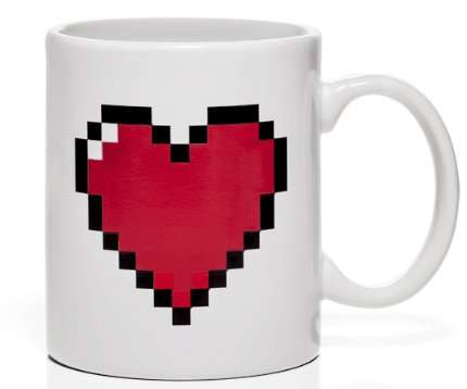 The 'Pixel Heart Heat Changing Mug' Stays Alive When Full