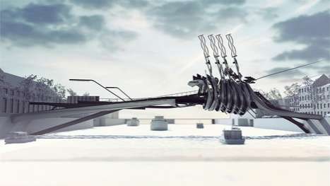 Swirling Spiral Overpasses - The 'Amsterdam bridge V' Produces Its Own Energy