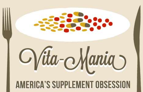 Healthy Pill Popping Charts - The 'Vita-Mania' Infographic Shows Supplements Go Too Far