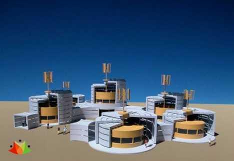 Solar & Wind Powered Pre-Fab Spa