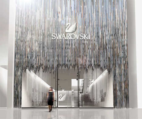 Glimmering Architecture - The Swarovski Store in Japan