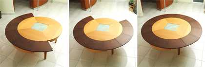 Round Expanding Tables Stays Round