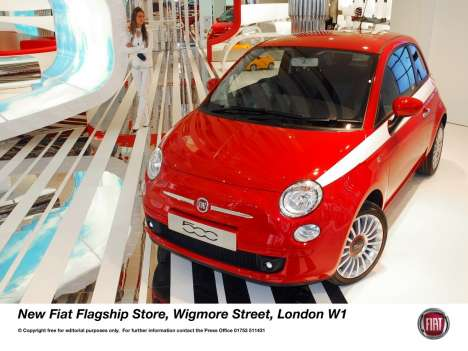 Stylish Flagship Stores - Fiat London