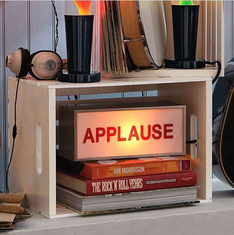 Studio Bedroom Signs - The 'Applause Light Box' Makes Your Room Like SNL