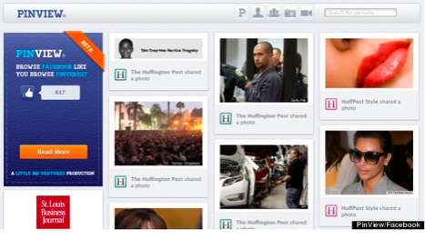 Pinterest Facebook Apps - 'PinView' Makes FB Visually Stunning