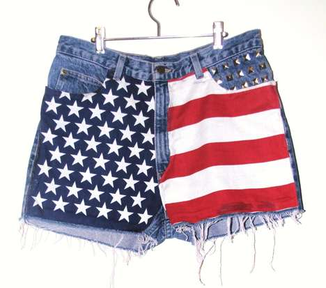 Plush Patriotic Shorts