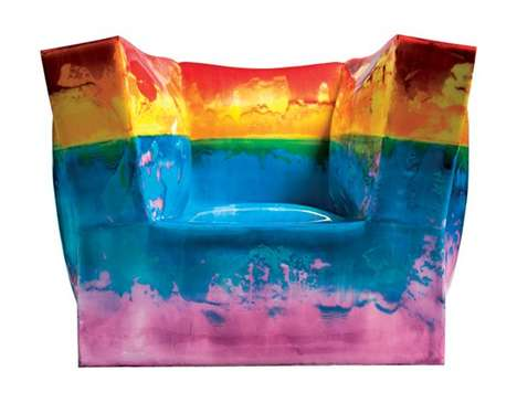 Trippy Silicone Armchairs - The Alessandro Ciffo 'Iperbolica' Series Pays Homage to Great Artists