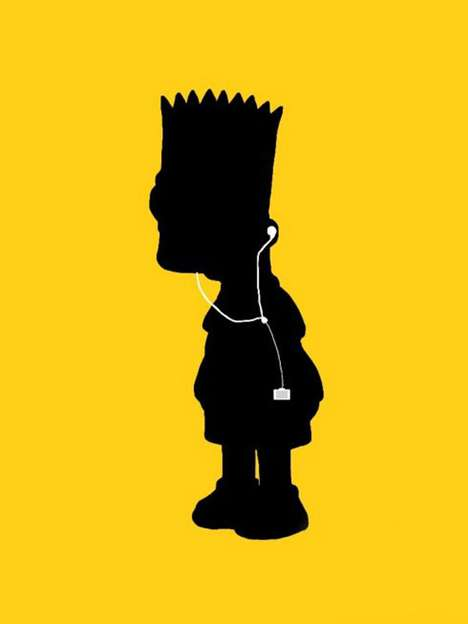 Toonified MP3 Posters - The 'iSimpsons' Love Their Beats