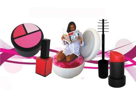 Over-Sized Cosmetics Furniture - The MakeUp Now! Accessories are Set to Polish Your Living Rooms